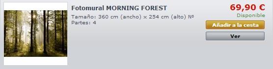Fotomural Morning Forest FTS0181