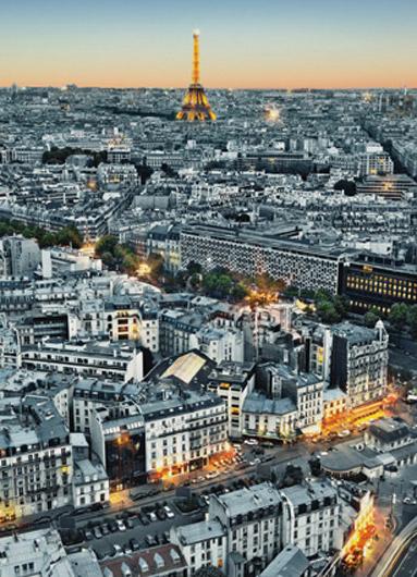 Fotomural Paris en blanco y negro