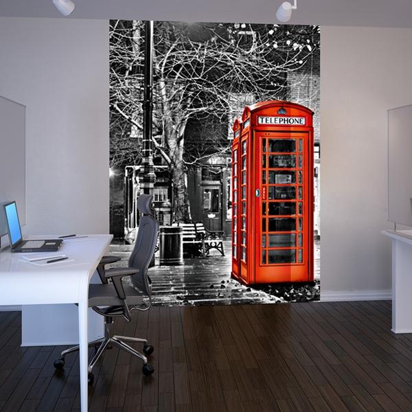 Fotomural Cabina Telefono Roja