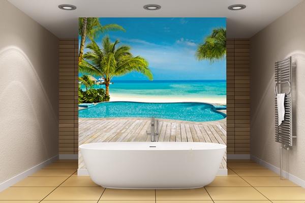 Fotomural Pool 127 Decorando un cuarto de Baño