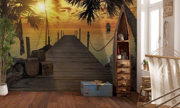 mural pasarela playa