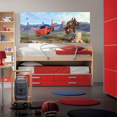 Fotomural Infantil Panoramico Disney Cars