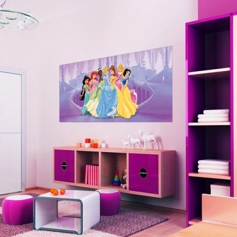 Fotomural Panorámico Disney Princesas