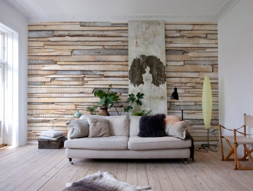fotomural decorativo madera