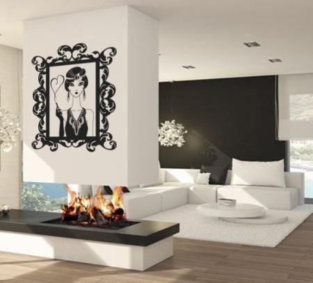 Vinilo Moderno Espejo Mujer MO118