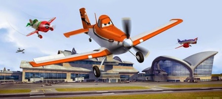 Fotomural FTDH0637 Aviones Disney