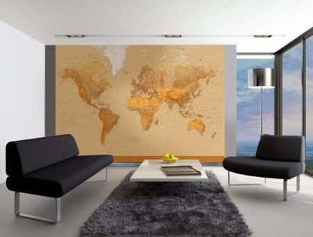 Fotomural 153 Mapa Mundi