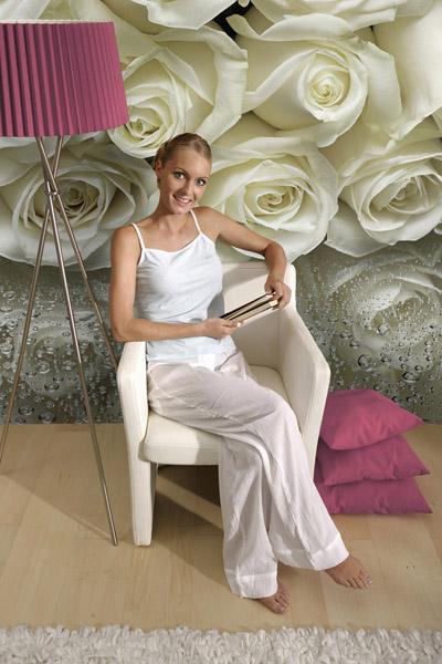 Fotomural Rosas Blancas - sale a 67,12 €